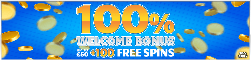 100% Welcome Bonus & 100 Free Spins!